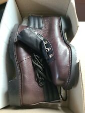 New Black Goliath Safety Ankle Boots Size UK6 EU39 Fell Boot Burgundy