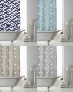 Country Club Shower Curtain 180x180 Skandi With decorative rings