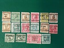 More details for 16 old us postage stamps with us states overprints