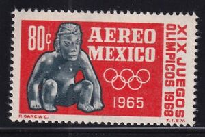 mae81  Mexico 1965 XIX Olympic Games sc#C309 MNH prehispanic sculpture