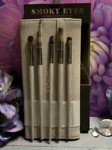 🌺 SEPHORA Eyes Uncomplicated 5pc Eyeshadow Brush Set Smoky Eyes + Holder $79
