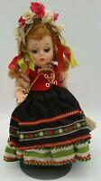 Vintage 1967 Madame Alexander POLISH Doll Jointed Knees w/ Tag, Floral Wreath