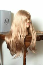 100% human hair long wig by Trendco (Diamond) in golden blonde (14) new