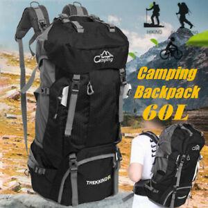 60L Waterproof Camping Hiking Bag Backpack Rucksack Outdoor Travel Trekking Bag