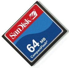 64MB SanDisk Compact Flash+PCMCIA Adapter =64MB ATA Flash Disk For CNC Panasonic