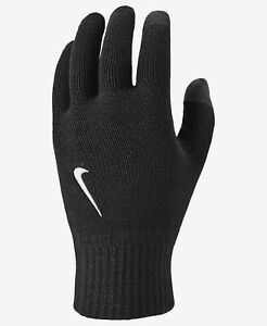 NEW Nike Authentic Men's Size S/M L/XL Black Knit Tech Touch Gloves NWT