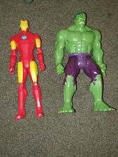 "MARVEL AVENGERS: 12"" TITAN HERO SERIES. COLLECTION OF 2 FIGURES- BUNDLE."