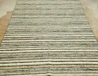 """EXCEPTIONAL HAND-KNOTTED KURDISH TRIBAL """"REVERSIBLE"""" VINTAGE WOOL RUG 5'X8'*"""