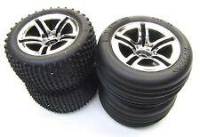 Nitro Rustler - Pneus & roues (usine Collé Jeu de 4 Alias Traxxas 44096-3