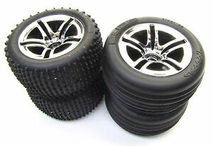 Nitro RUSTLER - TIRES & WHEELS (Factory Glued Set of 4 Alias Traxxas 44096-3