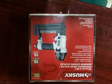 Husky Pneumatic 2-in-1 18 Gauge 2 in. Brad Nailer & 1/4 in. Narrow Crown Stapler