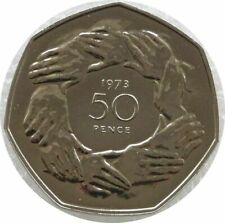 More details for 1973 accession to the eec hands 50p fifty pence proof coin