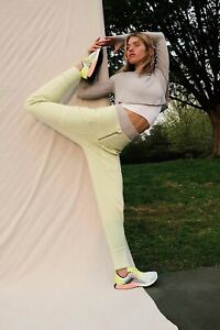 NWT Free People On The Road Pants Size Small Lime Green Joggers