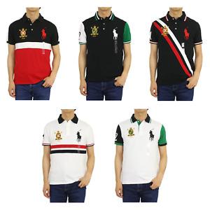"Polo Ralph Lauren Big Pony ""Custom Slim Fit"" Emblem Short Sleeve Polo Shirt"
