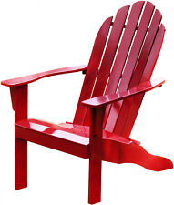 Solid Wood Adirondack Chair Red Wooden Patio Furniture Outdoor Chairs Seating