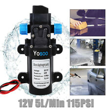 WasserPumpe  12V DruckwasserpumpeMembranpumpe Automatik Hochdruck 5L/Min 115PSI