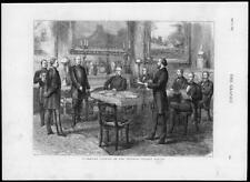 1875 ANTIQUE PRINT-Allemand Berlin palais impérial Cabinet Conseil Kaiser (151)