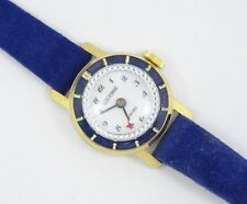 """ NEW"" SWISS LUCERNE ORBIT MYSTERY DIAL 22 mm CASE STRAP LADIES WATCH * WORKING"