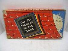 Vintage Milton Bradley Go to the Head of the Class 5th Series 1949 Complete Set
