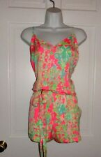 NWT LILLY PULITZER FLAMINGO PINK SOUTHERN CHARM DEANNA ROMPER XL