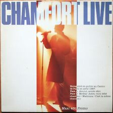 ALAIN CHAMFORT MAXI 45T PROMO LIVE 1987 / EN PUBLIC CASINO DE PARIS CBS 1230
