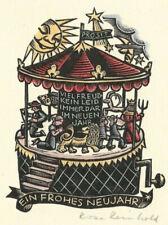 ROSE REINHOLD: Neujahrsgraphik P. F. , Spieldose, Kinderkarussell