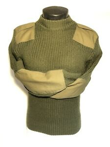 USMC MEN'S 36 WOOLY PULLY SERVICE DRESS B C US MILITARY WOOL SWEATER OD GREEN