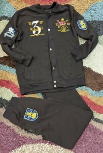 Polo Ralph Lauren Patchwork  Rugby Jacket Men #381 and pants 4XL read full descr