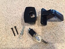 Inside Black Storm and Screen Door Latch Handle With Lock CH701 KEY