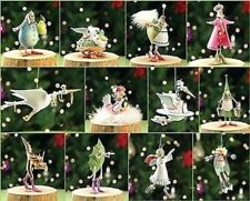 PATIENCE BREWSTER KRINKLES 12 DAYS OF CHRISTMAS MINI ORNAMENT COMPLETE SET MINT