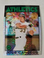 2021 Topps Series 1 JOSE CANSECO Silver Pack 1986 Chrome Ref Athletics #86BC-2