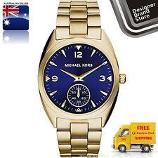New Michael Kors Ladies Watch Callie Gold Tone Steel Navy Blue Dial MK3345 -Mel