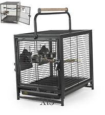 Portable Bird Cages Pet Wire Carrier Perch Feeders Parrot Parakeet Supplies Sale