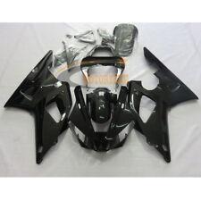 Black Fairing Kit Custom Fits Yamaha YZF R1 2000-2001 ABS Injection Bodywork Set