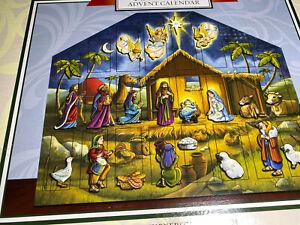 Byers Choice Wood Nativity Advent Calendar NIB 24 Doors