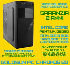 PERSONAL COMPUTER PC FISSO DESKTOP INTEL Dual Core G2020 RAM 8GB HDD 1TB DVD-RW