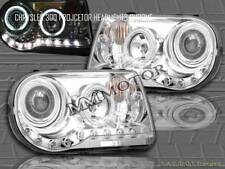 2005-2010 CHRYSLER 300C / SRT-8 PROJECTOR HEADLIGHTS CHROME CCFL TWO HALO LED