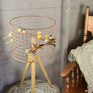 Copper Birdcage Lampshade Wire Cage Shade Garden Bird Light Lamp Decoration
