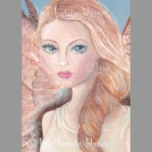 Angel Fairy ART Big Eye Blonde Fantasy Surreal Lowbrow Fae Print Lisabella Russo