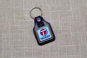 Talbot Keyring - Leatherette & Chrome - Motorhome Samba Horizon Sunbeam Avenger