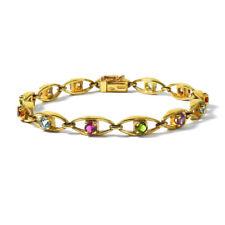 Dekoratives 750 Gold Armband mit Farbsteinen WEMPE Vintage Multicolor Bracelet