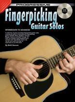 Progressive punteo con los dedos solos de guitarra Libro y CD