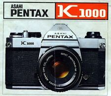 Pentax Asahi K1000 Slr 35mm Camera Owners Instruction Manual -K 1000