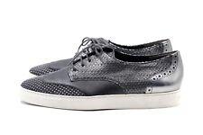 PAUL GREEN Sneaker Gr. 38 UK 5 Grau Leder Echtleder Damen Schnürschuhe NEU