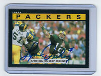 1985 PACKERS Lynn Dickey signed card TOPPS #66 AUTO Green Bay Autographed
