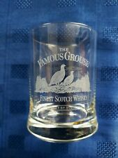 """EXCELLENT & SUPERB ETCHED """"THE FAMOUS GROUSE"""" WHISKY GLASS"""