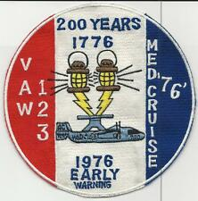VAW-123, Med Cruise 76  (US Navy Squadron  Patch) (from unit 1976)
