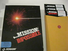 "Mission Impossible PC game 5.25"" disks complete Konami 1991"