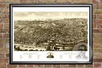 Vintage Albany, NY Map 1879 - Historic New York Art - Old Victorian Industrial