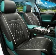 Universal Front Car Seat Cover Cushion Breathable PU Leather Pad Black white UK